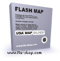 Flash Map US States Silver (with FLA source) screenshot