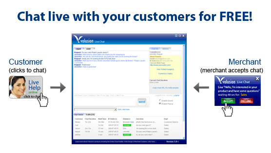 Volusion Live Chat screenshot